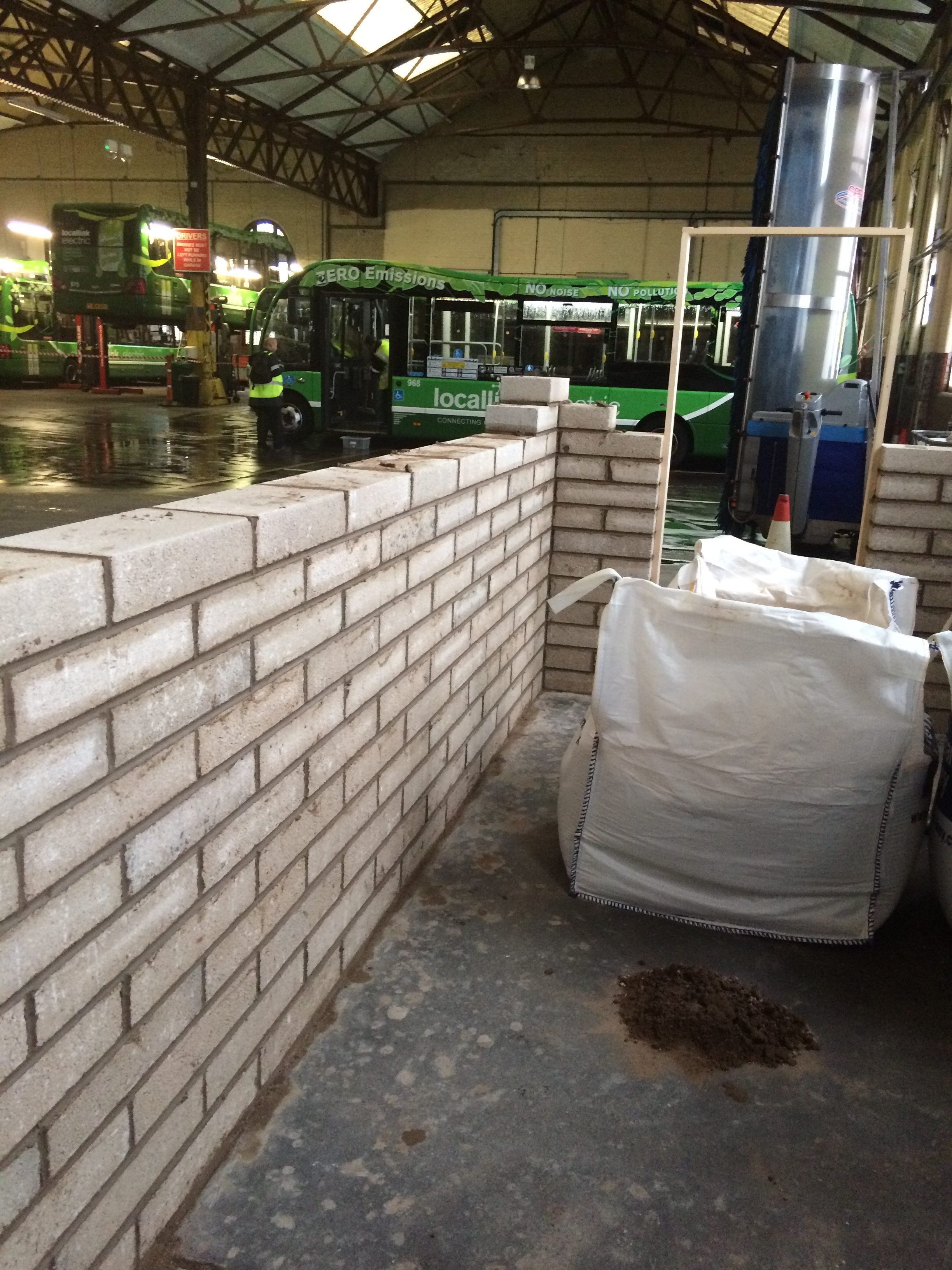 Office build at bus depot