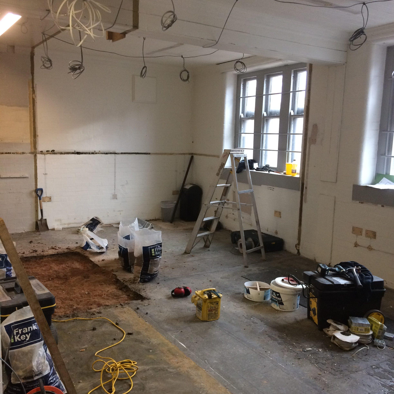 Before a complete office refurbishment