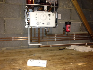 Boiler installed into loft space
